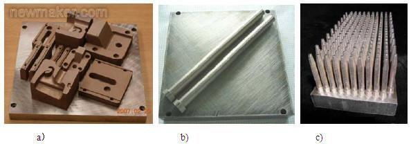 利用DMLS直接将型腔熔融烧结到基座金属板上