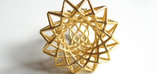 3d printed golden ring