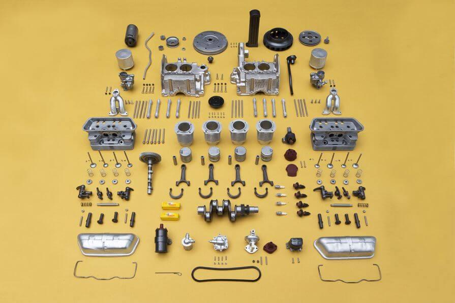 3d printed Porsche engine model 1