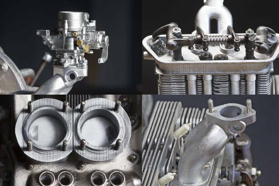 3d printed Porsche engine model