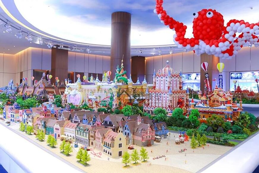 Heng Da theme park 3d printed model