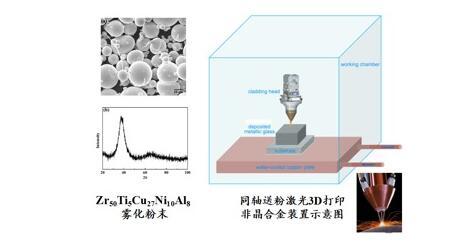 促进高性能非晶合金的大规模应用,大连交通大学激光3D打印大块非晶合金