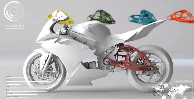motorbike parts_generative design 2